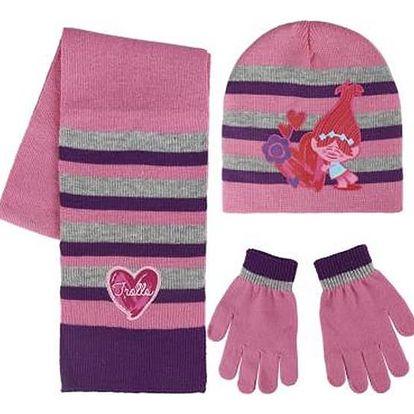 Čepice, šál a rukavice Trolls 119