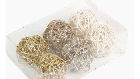 Vánoční koule Bílý Zlato Šampaňský 6 pcs by Homania