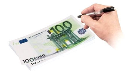 Poznámkový Bloček 100 Euro Bankovka