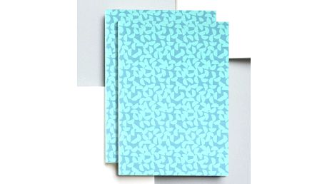 ola Notes v šité vazbě Maze Print A5 - 128 stran, modrá barva, zelená barva, papír