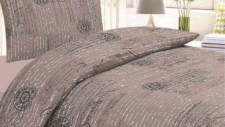 JAHU Krepové povlečení Bonita Romano, 140 x 200 cm, 70 x 90 cm