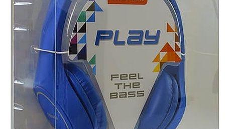 Sluchátka Maxell Play MXH-HP500 Modrý Čelenka