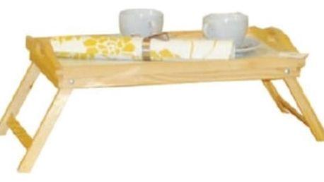 Dřevěný podnos do postele