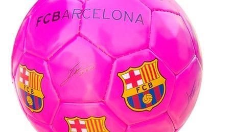Střední Růžový Fotbalový Míč FC Barcelona