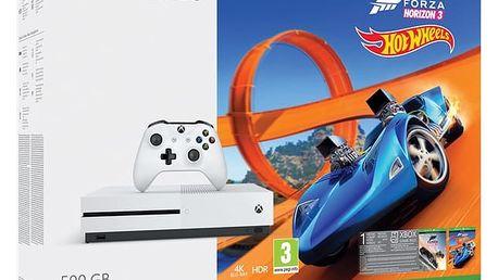 Herní konzole Microsoft 500 GB Forza Horizon 3 + rozšíření Forza Horizon 3 Hot Wheels + 14 denní Xbox LIVE GOLD (ZQ9-00211) Hra Ubisoft Xbox One Just Dance 2018 v hodnotě 899 Kč + DOPRAVA ZDARMA