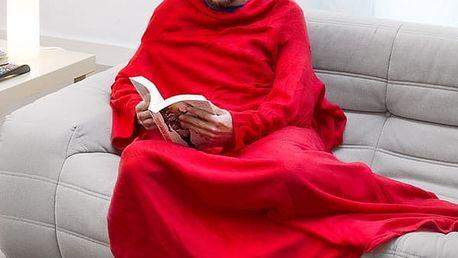 Extra měkká Snug Snug Kangoo deka s rukávy pro dospělé