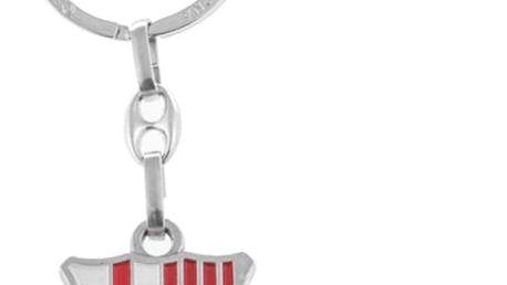 Stříbrný Přívěsek na Klíče FC Barcelona
