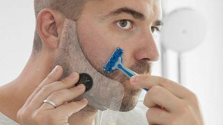 Hřeben na Vousy s Šablonou Beard Template