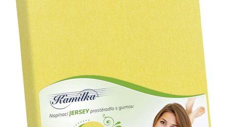Bellatex Jersey prostěradlo Kamilka žlutá, 120 x 200 cm