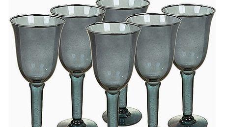 Sklenice z recyklovaného skla 6 pcs 350 ml Šedý - Crystal Colours Kitchen Kolekce by Bravissima Kitchen