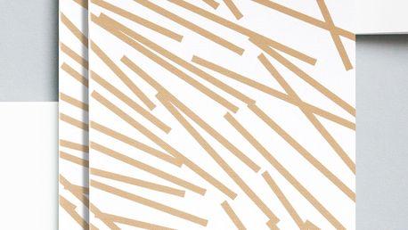 ola Notes v šité vazbě Gold Lines A5 - 128 stran, zlatá barva, krémová barva, papír