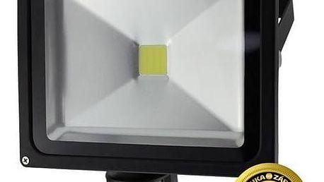 LED reflektor Solight 30W, studená bílá, 2100lm, se senzorem (WM-30WS-E) černý + Doprava zdarma