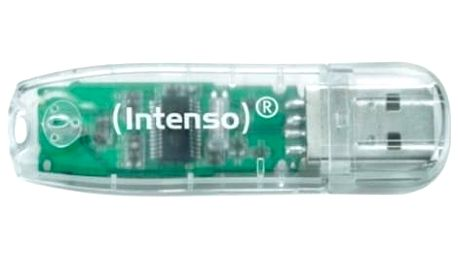 USB flash disk INTENSO 3502480 32 GB Transparentní