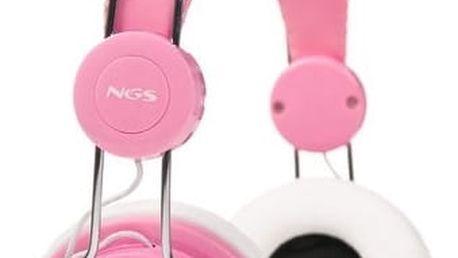 Sluchátka NGS Marshmallow Růžový