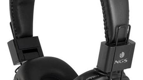 Bezdrátová sluchátka NGS Artica Jelly MicroSD Bluetooth Černý