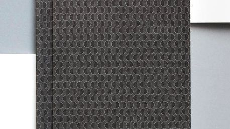 ola Notes v šité vazbě Grey Wave A5 - 128 stran, šedá barva, papír