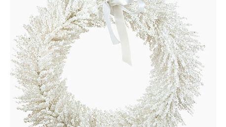 Věnec bílý 40 x 40 x 40 cm by Homania