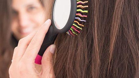 Kartáč na Vlasy se Zrcátkem Duha