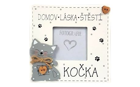 Dřevěný rámeček DOMOV - LÁSKA - ŠTĚSTÍ