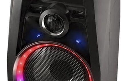 Přenosný Bluetooth reproduktor s mikrofonem NGS 220634 USB SD FM LED 80W Černý