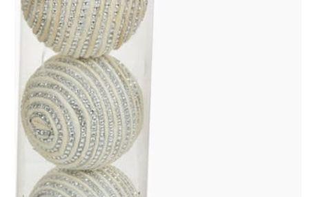 Vánoční koule Bílý Stříbro 3 pcs by Homania