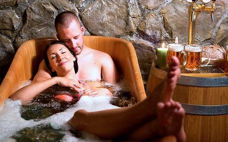 60 minut privátní relaxace v pivních lázních pro dva