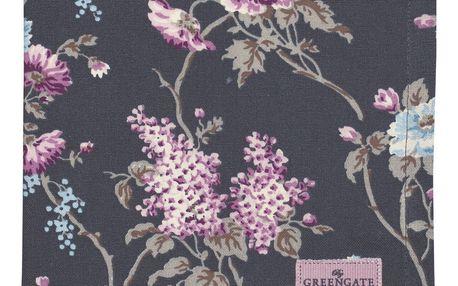 GREEN GATE Látkový ubrousek Maude dark grey, růžová barva, šedá barva, textil
