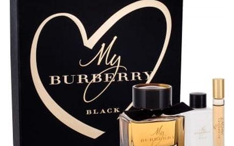 Burberry My Burberry Black dárková kazeta pro ženy parfém 90 ml + tělové mléko 75 ml + parfém 7,5 ml