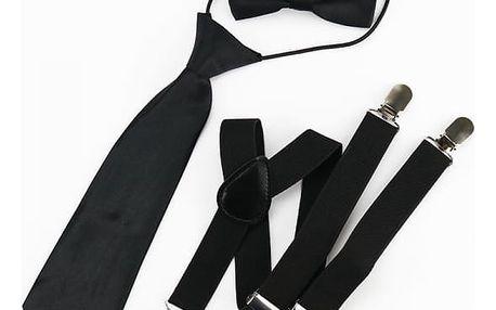 Sada motýlku, kravaty a kšand
