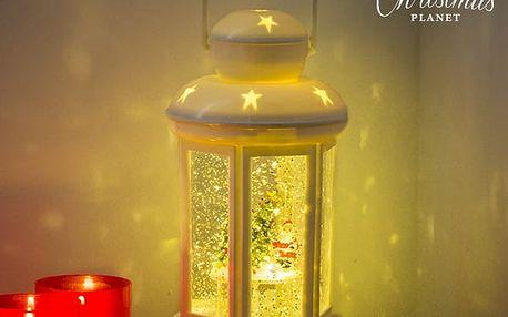 Vánoční LED Lucerna s Kapalinou a Purpurou Christmas Planet