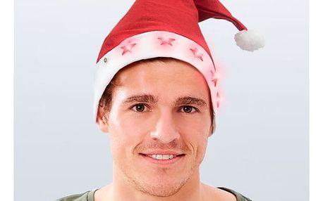 Čepice Santa Clause s LED Hvězdami