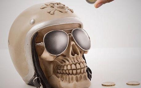 Kasička Motorkářská Lebka