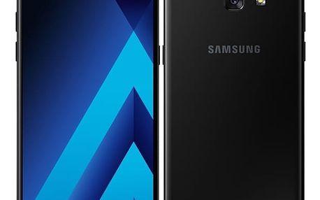 Mobilní telefon Samsung A5 (2017) (SM-A520FZKAETL) černý Paměťová karta Kingston MicroSDHC 16GB UHS-I U1 (45R/10W) v hodnotě 238 Kč + DOPRAVA ZDARMA
