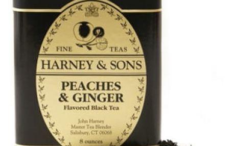 Sypaný čaj Broskev a zázvor Harney & Sons 227 g
