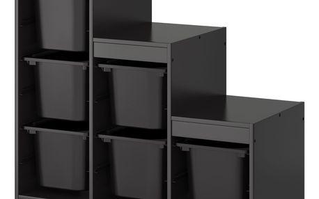 Úlož. kombinace s krabicemi TROFAST černá