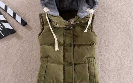 Dámská vesta s kapucí - 8 barev