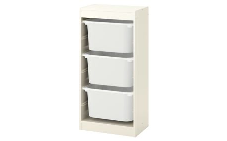 Úlož. kombinace s krabicemi TROFAST bílá