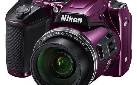 Digitální fotoaparát Nikon Coolpix B500 fialový + DOPRAVA ZDARMA