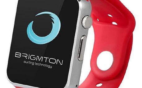 Chytré hodinky BRIGMTON BWATCH-BT4R 1.54in 55 g Stříbřitý Červený