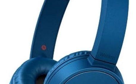 Bluetooth sluchátka s mikrofonem Sony MDRZX220BTL.CE7 Modrý