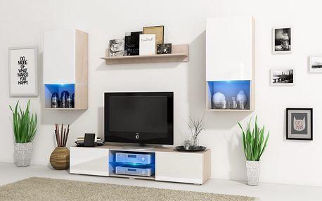 MEBLINE Trendy obývací stěna VERO Sonoma / Bílý mat