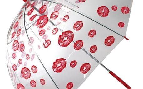 Hluboký Holový Deštník s Polibky