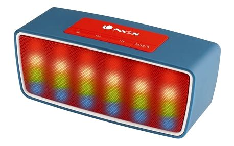 Přenosný Bluetooth reproduktor s mikrofonem NGS ROLLER GLOW 3W 1200 mAh USB FM Jack 3,5 mm MicroSD Černý