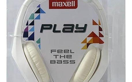 Sluchátka Maxell Play MXH-HP500 Bílý Čelenka