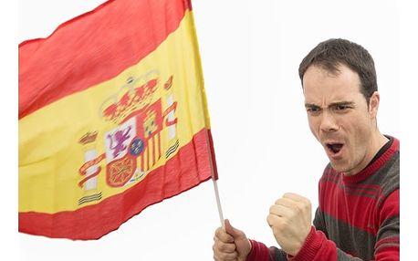 Španělská vlajka 60 x 90 cm na tyči