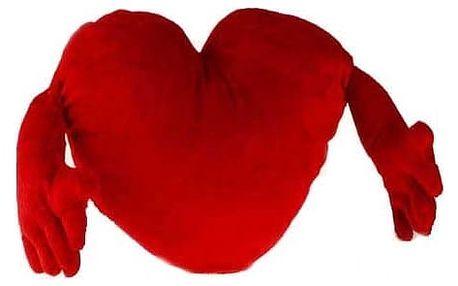 Červené objímající srdce 70 cm