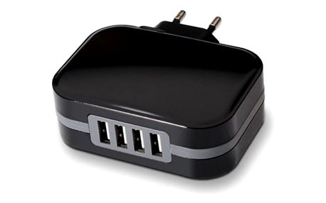 Stěnová nabíječka TooQ TQWC-1S04 USB x 4 34W Černý