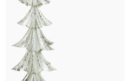 Vánoční stromeček Železo Stříbřitý 28 x 28 x 74 cm by Homania