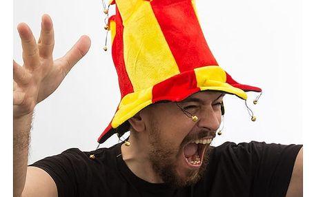 Šaškův klobouk v barvách Španělska 14 špiček