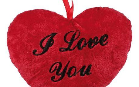 Plyšové srdce s nápisem I Love You 18 cm